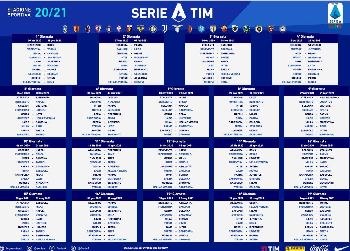 Calcio, Serie A. Ecco il calendario – VETRINA TV